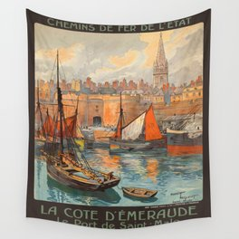 Vintage poster - France Wall Tapestry