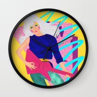 jem Wall Clocks featuring Jem by Camila Fernandez