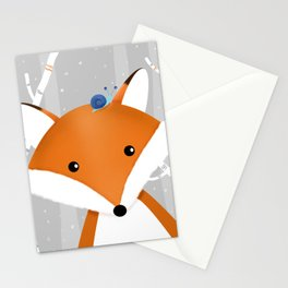Fox and snail Stationery Cards