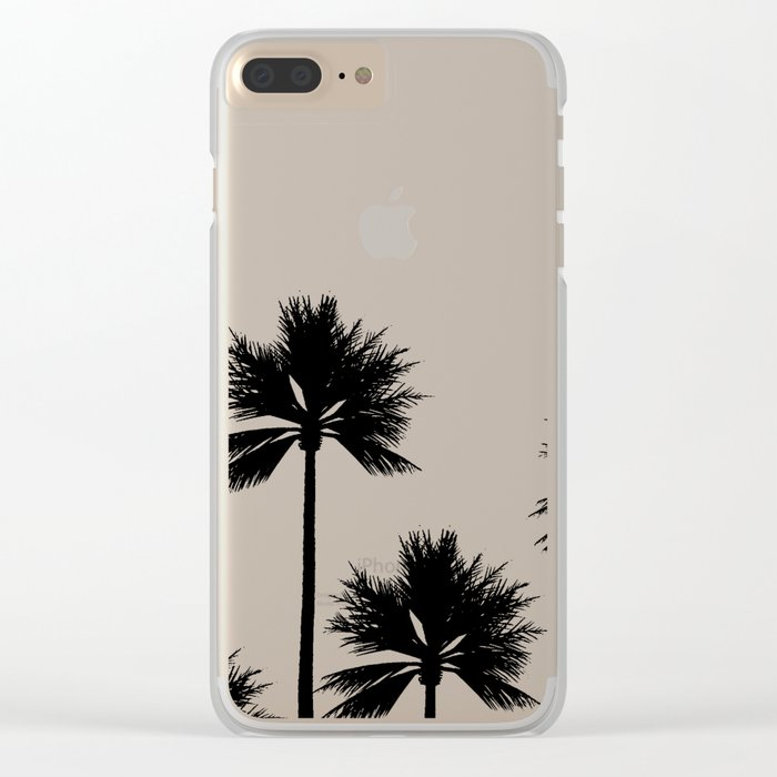 Midnight Palm Clear iPhone Case