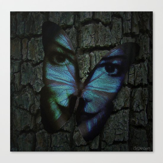 AM I A BUTTERFLY DREAMING I AM AN HUMAN Canvas Print