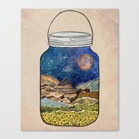 star Canvas Prints featuring Star Jar by Jenndalyn