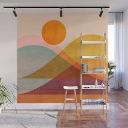 Abstraction_SUNSET_LANDSCAPE_POP_ART_Minimalism_018X Wall Mural