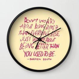 Darren Booth on Being Better Wall Clock