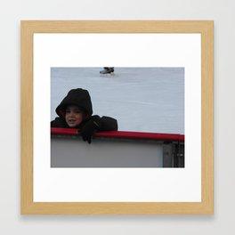 Learning To Ice Skate Framed Art Print