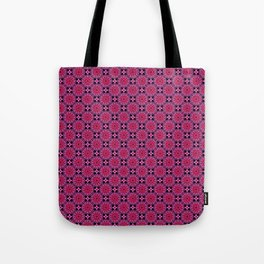 Medallion Pattern Magenta Tote Bag