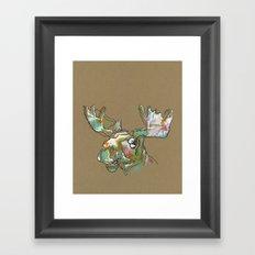 Sorbet Moose Framed Art Print