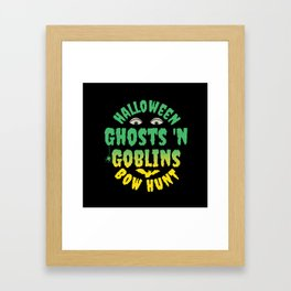 "Halloween ""Ghosts 'N Goblins Bow Hunt Framed Art Print"