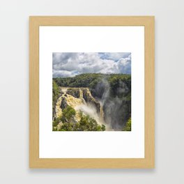 Beautiful wild waterfall Framed Art Print