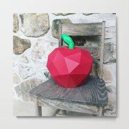 paper fruits portrait Metal Print