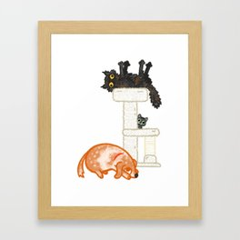 Kitty, Baby, & Rufus Framed Art Print