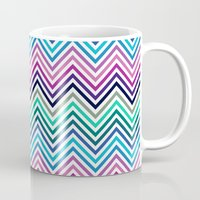 herringbone Mugs featuring Herringbone by Adikt