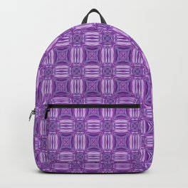 Ultra Violet and White Garden On A Sunny Day Backpack