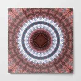 Trendy details of warm and cold in mandala Metal Print