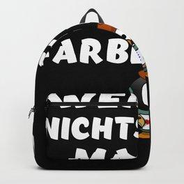 Witziger Handwerker Spruch für Maler und Lackierer lustiges Backpack
