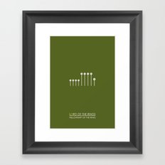 Fellowship Of The Ring - Lord of the rings Framed Art Print