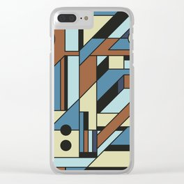 De Stijl Abstract Geometric Artwork 3 Clear iPhone Case