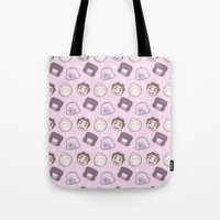 steven universe Tote Bags featuring Steven Universe Gems (Pink) by xximone