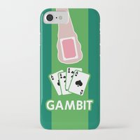 poker iPhone & iPod Cases featuring Poker Face by Remix Comix