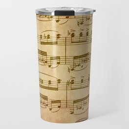 Vintage Sheet Music Travel Mug
