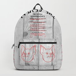 The Seven Commandments - Animal Farm Backpack