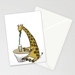 Coffee Giraffe Stationery Cards