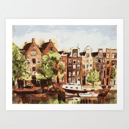 Amsterdam Dutch Buildings Netherlands Art Print