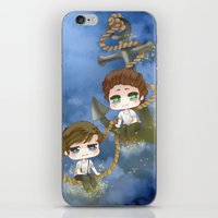 larry stylinson iPhone & iPod Skins featuring Larry Stylinson - Anchor and rope by Yorlenisama