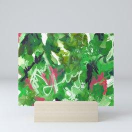 Green Abstract Mixed-Media: Nature Mini Art Print