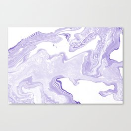Purple Marble Canvas Print