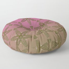 Old gold star pattern on a pink to old gold gradient background  Floor Pillow