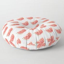 Watercolor Watermelon Slices Pattern Floor Pillow