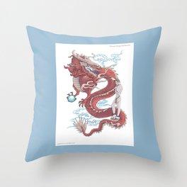 Treasure Dragon Throw Pillow