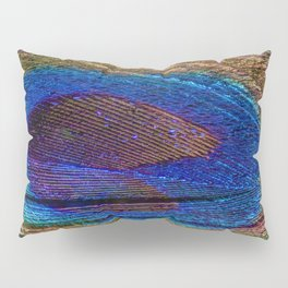 peacock feather close up Pillow Sham