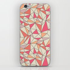 triangles color block in coral pink and orange iPhone & iPod Skin