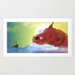 Big Catch Art Print