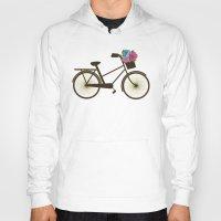 bike Hoodies featuring Bike by Juliana Zimmermann