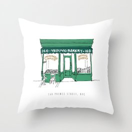 New York City NYC Bakery Throw Pillow