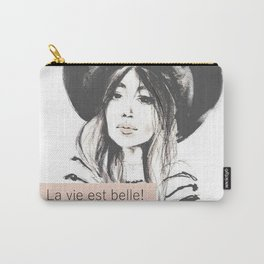 La vie est belle Fashion Illustration Carry-All Pouch