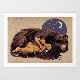I love my Bear Art Print