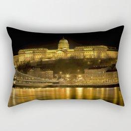 Budapest Golden Night Rectangular Pillow