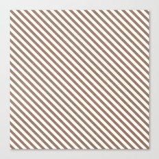 diagonal stripes - natural Canvas Print