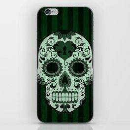 Día de los Muertos in Emerald Green iPhone Skin