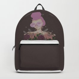 Rose colored glasses and Flowers Backpack