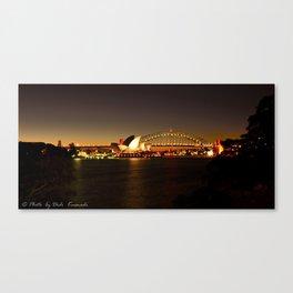 Sydney Harbour Evening Canvas Print