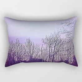 Lavender Dusk Landscape | Nadia Bonello Rectangular Pillow