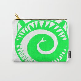 Round Scream in Green Carry-All Pouch