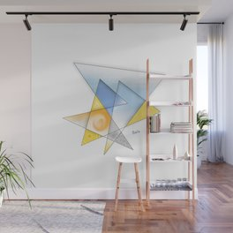 Abstract transition #1 (from day to night) Wall Mural