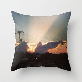 Sunset in Matthews, NC Throw Pillow