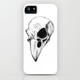 Raven skull iPhone Case